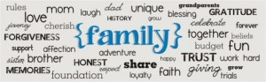family words banner